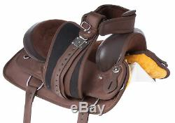 Trail Saddle Western Horse Comfy Pleasure 17 Barrel Racing Used Tack Set