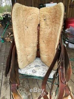 US Military Saddle made by Lichtenberger-Ferguson, Vintage Western Saddle