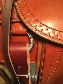 USED Custom Western Saddle 16 with Al Stohlman hardware