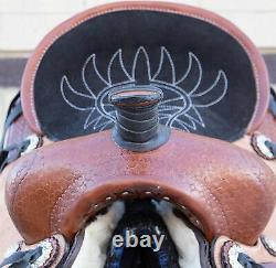 Used 13 Youth Kids Western Quarter Horse Leather Roping Ranch Trail Saddle