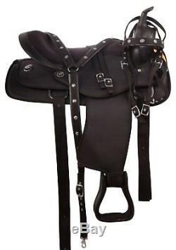 Used 14 15 16 17 18 Synthetic Western Pleasure Trail Cowboy Horse Saddle Tack
