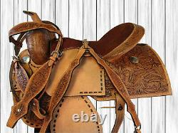 Used 15 16 Western Saddle Pleasure Rodeo Trail Show Horse Barrel Racing Tack Set