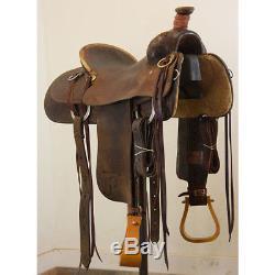 Used 15.5 Dale Martin Ranch Roping Saddle Code U155DMARTIRR12FL