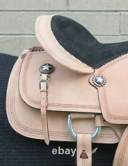 Used 15.5 Tough 1 Rough Out Western Roping Ranch Work Leather Horse Saddle
