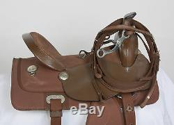 Used 15 King Series Krypton Brown Western Pleasure Trail Synthetic Horse Saddle