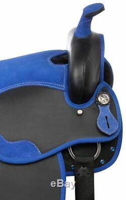Used 15 Teal Barrel Racing Western Trail Riding Show Light Weight Horse Saddle