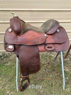 Used 16 TexTan Western reining saddle