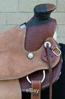 Used 16 Wade Tree Ranch Work Horse Saddle Tack Cowboy Roping Western Leather