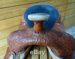 Used 17 Light Oil Circle Y Western Equitation Silver Show Horse Saddle