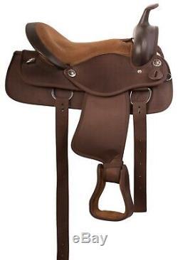 Used Brown Cordura Western Pleasure Trail Barrel Horse Saddle Tack 14 16 17