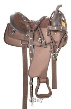 Used Brown Western Trail Barrel Horse Saddle Tack Set 17