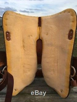 Used Circle Y 16 tooled Western show saddle withsiver for short adult or youth