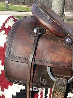 Used M L Leddy Cutting Saddle Ranch Horse Sorting