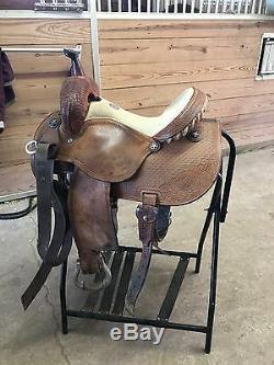 Used Martin Racer Barrel Saddle 14 by Martin Saddlery