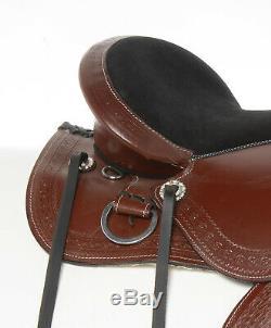 Used Treeless All Purpose Western Leather Horse Saddle Pleasure Trail 14 16 17