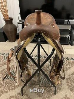 Used Western 17 Circle Y Ranch Cutter Cutting Saddle