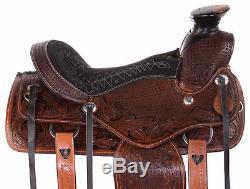 Used Western Saddle 15 14 Cowboy Trail Wade Tree Ranch Roping Horse Tack Set