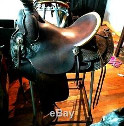 Used western ranch, roping, A fork saddle 16