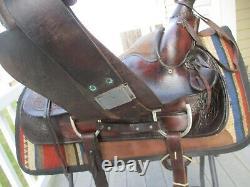 VINTAGE 15'' 1100 AMERICAN SADDLERY FORREST ROPER western saddle FQH bars 35.5LB