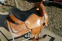 Vintage 16'' Circle Y Silver Equitation Western Show Saddle SQHB, Excellent cond