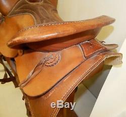 Vintage 16 Western Saddle The American #3520 Estate Find