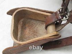 Vintage Big Horn Child's Western Tooled Pony Saddle