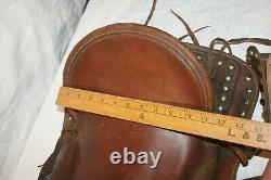 Vintage Child's Leather Pony Or Miniature Horse Western Saddle