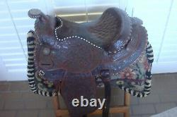 Vintage Circle Y Western Show Saddle