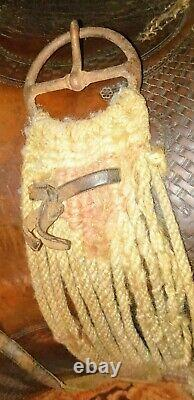 Vintage /Collectors of Americana Western high back seat Saddle late 1800's