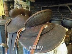 Vintage Lichtenberger Ferguson Co Western Saddle