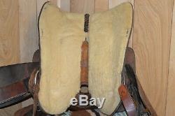 Vintage Original Billy Cook Greenville Western Saddle 15 inches