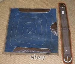 Vintage Original USA Made Leather Western Saddle 17 & Girth
