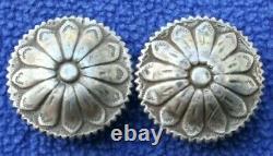 Vintage Visalia Stock Saddle Sterling Silver Western Bridle Headstall Conchos