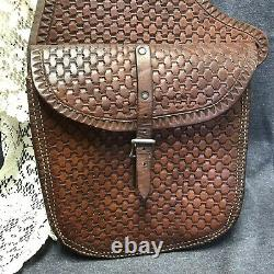 Vintage Western Cowboy Horse Saddle Bags Quality Shop Hand Crafted Leather 39