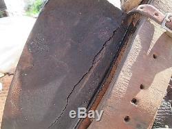 Vtg Used Carl Ammerman 15 Leather Basket Stamp Ranch Rope Saddle Yoakum Texas