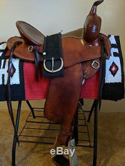 Weaver stamped 16 western working ranch saddle- all leather FQHB -NICE