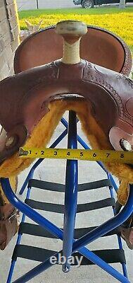 Western Barrel Saddle CONNIE COMBS By Saddlesmith 14 deep seat great for trails