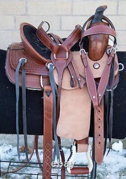 Western Leather Horse Saddle Youth Trail Barrel Racing Used Roping Tack 12 13 14