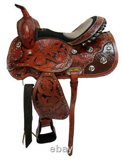 Western Saddle 15 16 Barrel Racing Trail Horse Show Pleasure Cowboy Used Tack