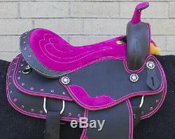 Western Saddle 16 Beautiful Pleasure Trail Barrel Racing Horse Tack Used
