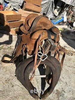 Western Saddle N Poter (maker) Vintage rare Lee Robinson Roping Saddle