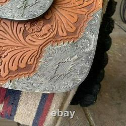 Western show saddle 16 used