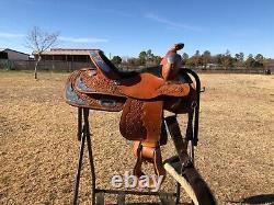 Youth western saddle used